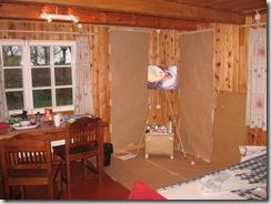 vasakul köök, paremal ateljee